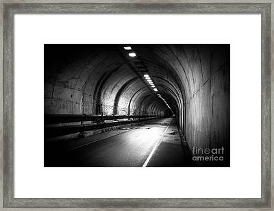 At The End Of The Tunnel Framed Print by Ana V Ramirez