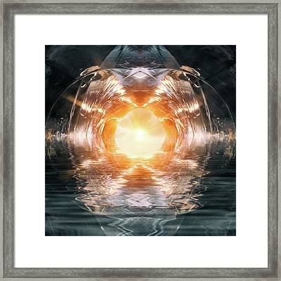 At The End Of The Tunnel Framed Print by Wim Lanclus