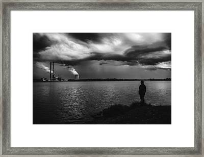 At The End Of The World Framed Print by Art of Invi