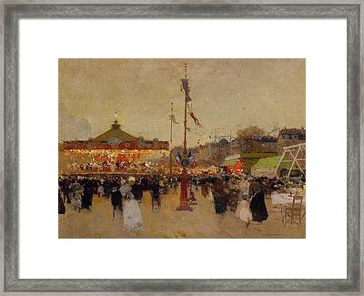 At The Fair  Framed Print by Luigi Loir