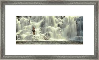 At The Falls Framed Print