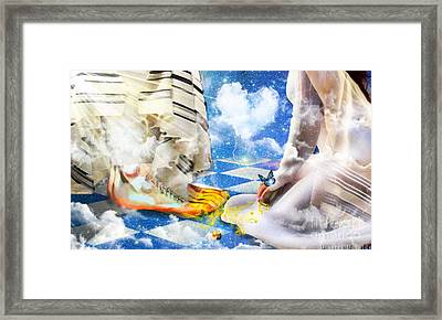 At The Feet Of Jesus Framed Print by Dolores Develde