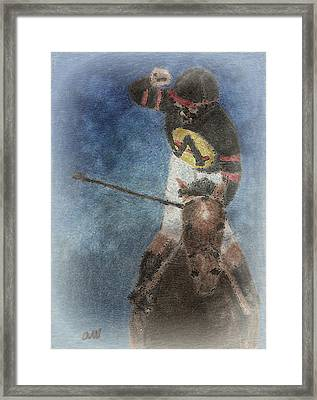 At The Finish Line Framed Print by Arline Wagner