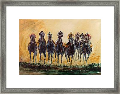 At The Finish Line Framed Print by Jay Jacobs