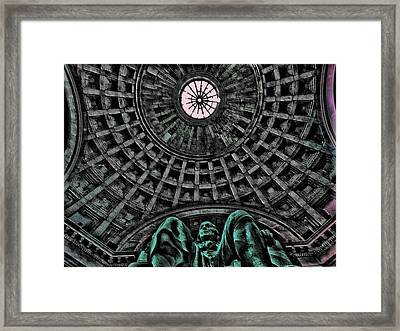 At The Foot Of Franklin's Favor Framed Print by Vince Green