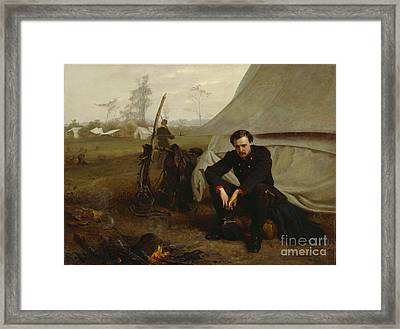 At The Front Framed Print by George Cochran Lambdin