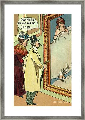 At The Gallery Framed Print by English School