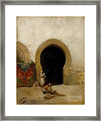 At The Gate Of The Seraglio Framed Print by Celestial Images