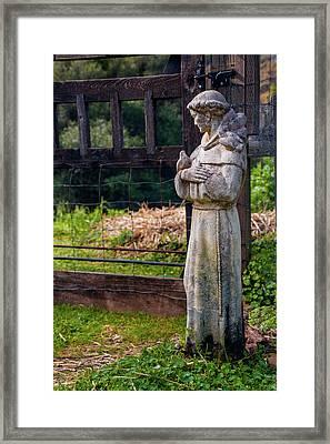 At The Gate Framed Print