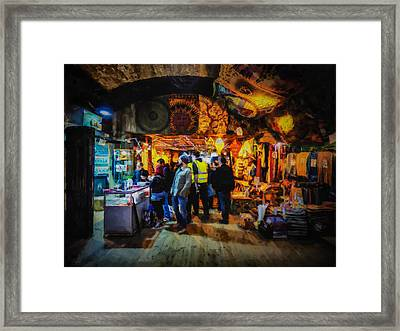 At The Grand Bazaar Framed Print