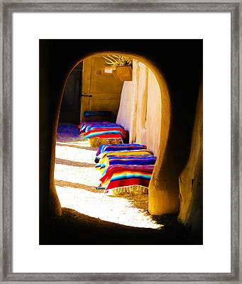 At The Hacienda Framed Print