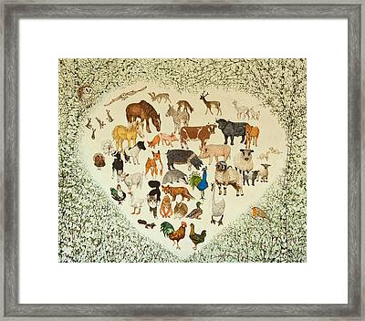 At The Heart Of It All Framed Print