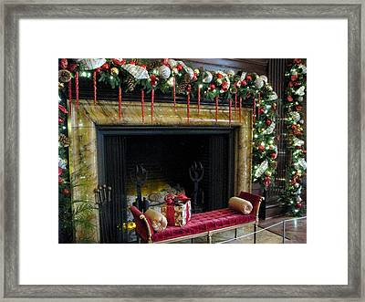 At The Hearth Of Christmas Framed Print by Angela Davies