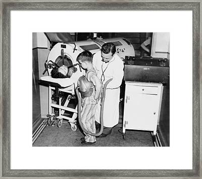 At The Height Of A Polio Epidemic, Dr Framed Print