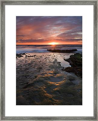 At The Horizon Framed Print by Mike  Dawson