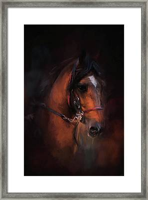 At The Horse Show 1 Framed Print by Jai Johnson