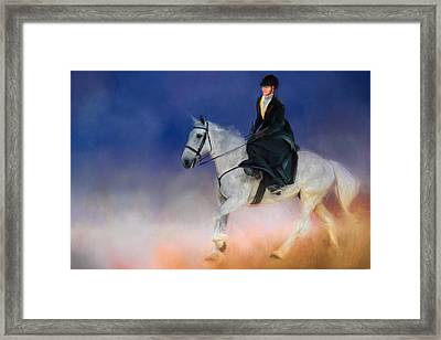At The Horse Show 2 Framed Print by Jai Johnson