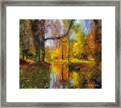 At The Lake Framed Print by Carola Ann-Margret Forsberg