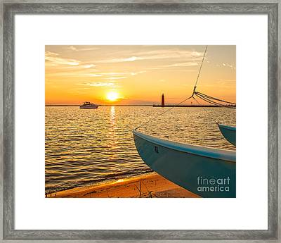 At The Lake Framed Print by Emily Kay