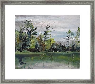 At The Lake Framed Print by Francois Fournier