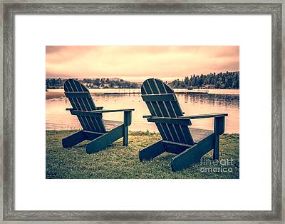 At The Lake II Framed Print by Edward Fielding