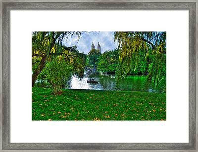 At The Lake In Central Park Framed Print by Randy Aveille