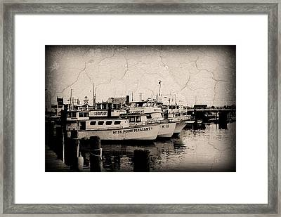 At The Marina - Jersey Shore Framed Print