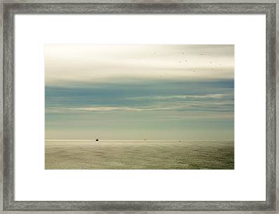 At The Mouth Of The Columbia Framed Print by Todd Klassy