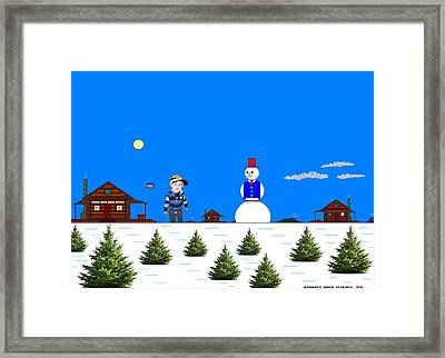 At The North Pole.  Framed Print by Richard Magin