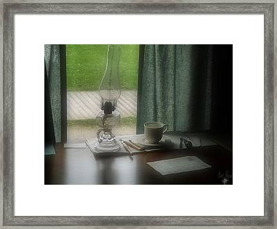 At The Office Framed Print by Scott Hovind