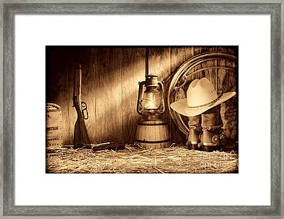At The Old Ranch Framed Print
