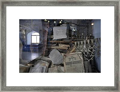 Framed Print featuring the photograph At The Old Tample Of Safed  by Dubi Roman