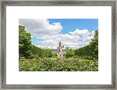 Framed Print featuring the photograph At The Palais Royal Gardens by Melanie Alexandra Price