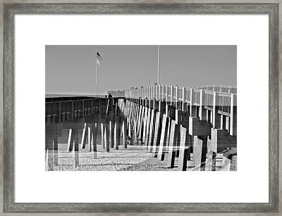 At The Pier Framed Print by Susan Leggett