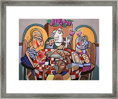 At The Pizzeria Framed Print by Anthony Falbo
