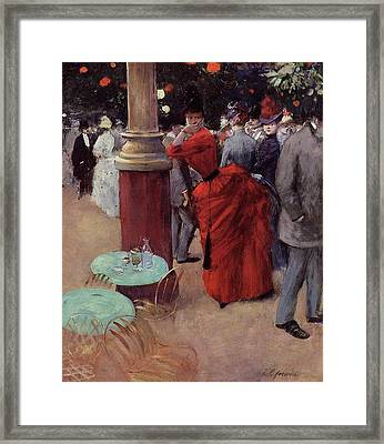 At The Public Garden Framed Print by Jean Louis Forain