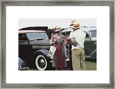 At The Races, 1937 Style Framed Print by Yvonne Wright