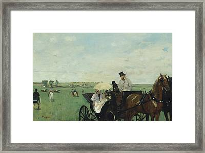 At The Races In The Countryside Framed Print