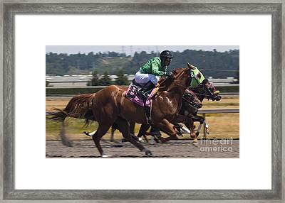 At The Races Framed Print by Ronald Hanson