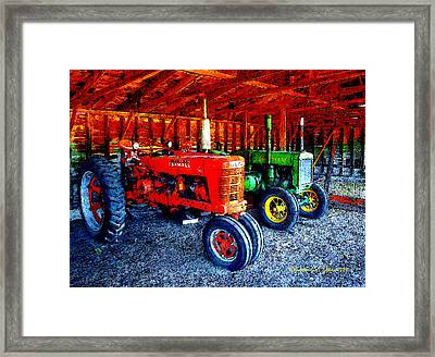 At The Ready Framed Print by Christine S Zipps