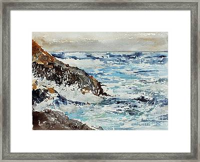 At The Rocks Framed Print by Monte Toon