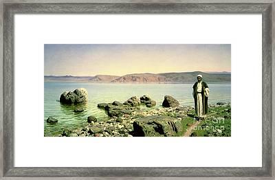 At The Sea Of Galilee Framed Print by Vasilij Dmitrievich Polenov
