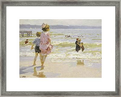 At The Seashore Framed Print by Edward Henry Potthast