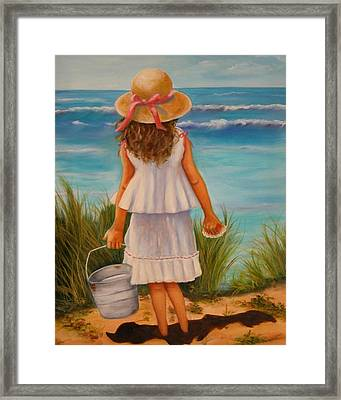 Framed Print featuring the painting At The Seashore by Joni McPherson