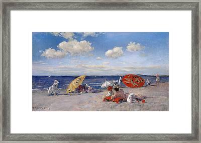 At The Seaside 1892  Framed Print