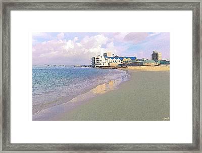 At The Seaside Framed Print by Jan Hattingh