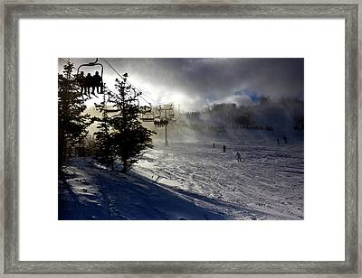 At The Ski Slope Framed Print