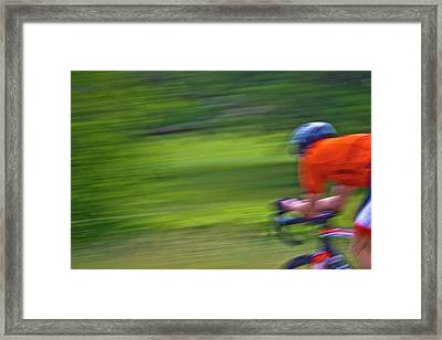Framed Print featuring the photograph At The Speed Of Light by Linda Unger