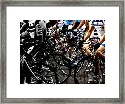 At The Starting Wait Framed Print by Steven Digman