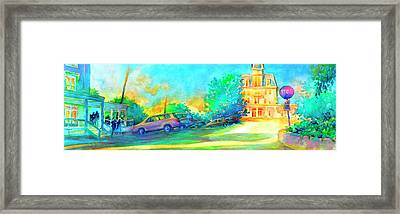 At The Stop And Go Framed Print by Virgil Carter